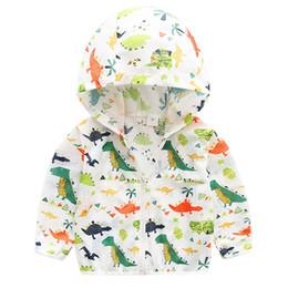 Boys Dinosaur Jacket Australia - Dinosaur Coat For Baby Boy Clothes Spring Autumn Kids Boys Jacket Outerwear Coats Active Windbreaker Baby Clothes
