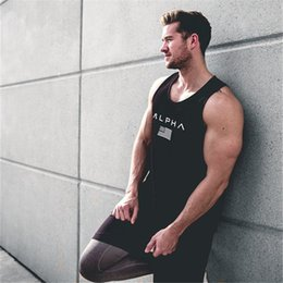 $enCountryForm.capitalKeyWord Australia - Tank Tops Men Summer Gyms Fitness Bodybuilding Hooded Tank Top Fashion Mens Crossfit Clothing Loose Breathable Sleeveless Shirts Vest