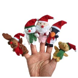 China Cartoon 5 PCS Story Time Christmas Santa Claus Friends Finger Puppets Fun Novelty Funny Gadgets Toys Dolls Stuffed Toys Puppets suppliers