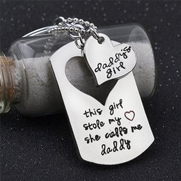 dad daughter jewelry 2019 - Daddy Father Daughter Necklace Paired Pendants Key Chain Dad Love Heart Necklace family Jewelry Birthday Father's Day Gi