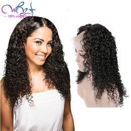 Vente en gros Nouvelle Arrivée Perruques Cheveux Frisés Pré Cueillie Avec Des Cheveux de Bébé Brésilien Non Transformés Perruques Cheveux Vierges Pour Les Femmes Noires Gluless Suisse Lace Front Perruque