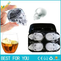 Hot Bar Australia - Hot seal Bar making ice mold Creative 4 Steamed Ice Cube Halloween Bone Ice Cube Mould
