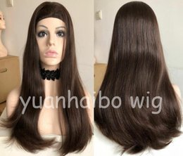 Long Fine Hair NZ - Band Fall Wig 10A Human Hair Best Sheitels 4x4 Silk Top Jewish Wigs Finest Virgin Malaysian Hair Kosher Wigs Capless Wigs Free Shipping