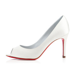 f69976252bdf Hot sale Nude Color Fish Mouth Red Bottom High Heels