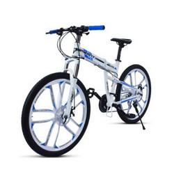 $enCountryForm.capitalKeyWord UK - 250403 Folding mountain bike ten knives one round bike 27 speed aluminum alloy two disc brake student adult cycling