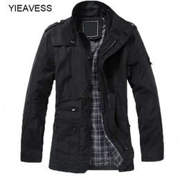 Großhandel Winterjacke Für Männer Trenchcoat Männer Winter Männlichen Jacke Umlegekragen Plus Größe 5XL Lange Jacke Herren Mantel MC979