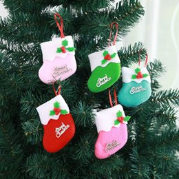Diamond New Arrival Snowflake Pattern Wooden Sleds Boots Christmas Xmas Tree Hanging Pendant