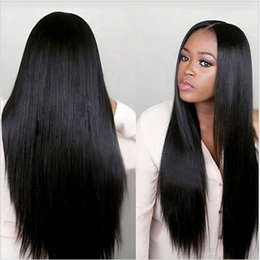 Human Hair Lace Wigs Free Shipping Australia - Prida Star Lace Front Wig Malaysian Virgin Hair Yaki Straight Full lace Wig Glueless Human Hair Wigs Malaysian Free Shipping