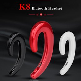 k8 bluetooth 2019 - K8 wireless bluetooth headphones Business Earphone Car Hands-free Mic Bone Conduction headset No Earplugs Earbuds For ip
