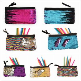 Hunting supplies online shopping - 16 Colors Mermaid Pencil Bag School Sequin Kids Pencil Supplies Stationery Office Supplies Bags Women Girls Make Up Bags CCA10082