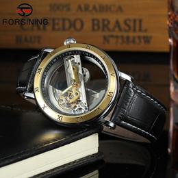 $enCountryForm.capitalKeyWord Australia - Forsining Top Brand Luxury Self Wind Automatic Mechanical Watches Men Rose Gold Case Genuine Leather Skeleton Watches relogio