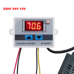 digital controllers UK - Digital Humidity Controller 220V 12V 24V Hygrometer Humidity Control Switch 0~99%RH Hygrostat with sensor