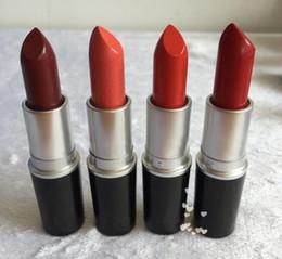 Discount lipstick brands names - Brand NEW matte Lipstick M Makeup Luster Retro Lipsticks Frost Sexy Matte Lipsticks 3g 24 colors lipsticks with English