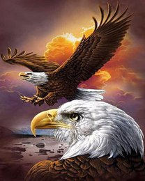 $enCountryForm.capitalKeyWord NZ - 16x20 inches Eagle Flying Over The Lake DIY Paint On Canvas drawing By Numbers Kits Art Acrylic Oil Painting Frame For Adult