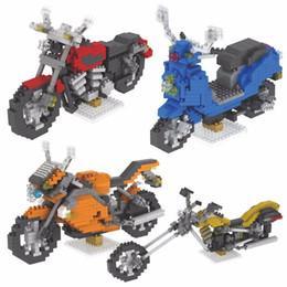 Small Plastic Blocks NZ - Motorcycle Series Small Diamond Blocks Mini Assembly Plastic Block Toys