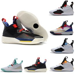 c907f9a1b5be5c Cheap New Brand Jumpman 33 XXXIII Future of Flight Blackout Mens Basketball  Shoes Men 33s Zapatillas Multicolors Black Yellow Sport Sneakers
