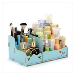 sale cosmetics box Australia - Hot Sale Originality Convenient and Concise DIY Wood Beauty Makeup Storage Drawers Box Cosmetics Organizer Removable Case