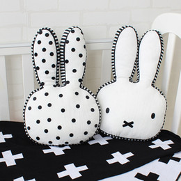 Baby Plush Toy Rabbit Shape Cushion Nursing Pillows For Children Room Decoration Infant Bunny Photo Props