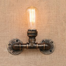 Discount pub wall lights 2018 pub wall lights on sale at dhgate discount pub wall lights vintage iron water pipe light retro loft wall lamp bedroom living room mozeypictures Image collections