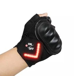 Discount gloves motorcycle motorbike - With LED turn signal Motorcycle Gloves Outdoor Sports Full Finger Knight Riding Motorbike Motorcycle Gloves Motocross