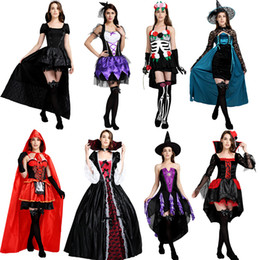 scary woman costumes 2018 - halloween costumes for women fancy dress scary sexy princesse vampire costumes halloween witch men ladies adult Party Ca