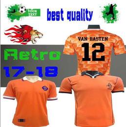 Retro 1988 Netherlands Soccer Jersey Van Basten 1998 Holland Retro soccer  jersey BERGKAMP 97 98 Gullit d4abcc569