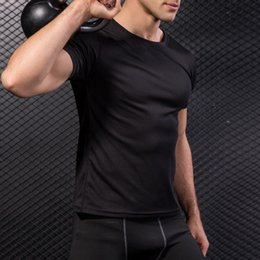Athletics Shirt NZ - 2018 Sexy Men Running T-shirts Loose Short-sleeved Fitness Shirt Gym Quick-Dry Athletic Top Male Sport Tank Sport Workout Vest