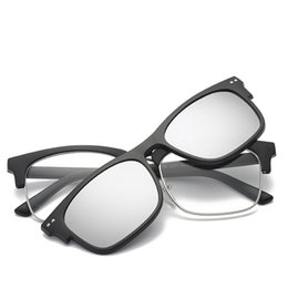 e7a2eaedb1f Polarized Square Magnetic Clip On Sunglasses Women Men Brand Mirror Night  Vision TR90 Frame UV400 Shades oculos de sol feminino