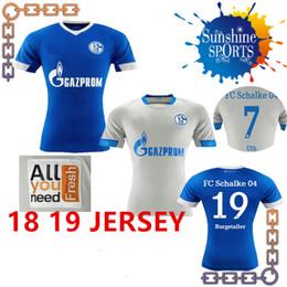 5e57768f6d Thaïlande Qualité 2018 2019 FC Schalke 04 Maillot de football 19  BURGSTALLER 7 UTH 6 Mascarell HARIT SERDAR SANE Maillot de football sur  mesure