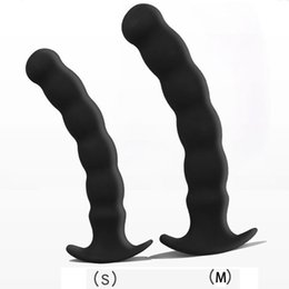 Silicone Man Dildo UK - Anal Dilator Prostata Stimulator Sex Toys For Men Woman Plugs Anal Beads Dildo Silicone Butt Plug Prostate Massager Buttplug Y1892803