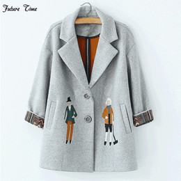 $enCountryForm.capitalKeyWord UK - 2018 autumn women coats,European fashion Female woolen jackets Embroidery outwear winter grey coats cashmere coat femme C0361 L18100706