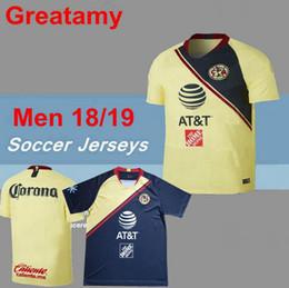 TOP Quality 2018 2019 LIGA MX Club America soccer Jerseys New home away  Third Yellow 18 19 SAMBUEZA Camisetas O.Peralta football shirts 7ff1b687b
