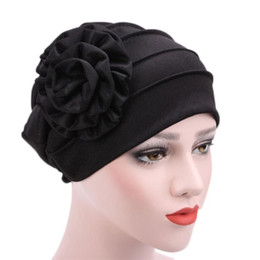 $enCountryForm.capitalKeyWord Australia - Women Muslim Stretch Turban Hat Cotton Chemo Cap Hair Loss Head Scarf Wrap Hijib Cap Free Shipping