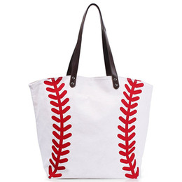bcffa695de115 schwarz weiß Rohlinge Baumwolle Canvas Softball Tragetaschen Baseball-Tasche  Fußball-Taschen Fußball-Ball-Tasche mit Schließfach Sporttasche