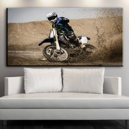 HD Printed Canvas Wall Art Motorcycle Racing Canvas Pictures Oil Art  Painting For Livingroom Bedroom Decoration No Framed