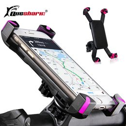 Universal 360 Degree Rotation Bike Bicycle Motorcycle Handlebar Clip Stand Phone Holder Bracket Mount Shockproof for 3.5-6.5