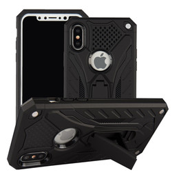 $enCountryForm.capitalKeyWord UK - Case For iPhone 7 8 Shockproof Military Drop Tested Silicon Case For iPhone 6 6s Plus X 5 5s SE Kickstand TPU Cover