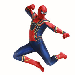 Movie Steel Canada - Halloween cosplay costume 3D back to school season return steel spider man tights return to the civil war spiderman war suit