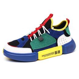 142e1843bd5 Hot novo estilo de malha de costura sapatos casuais coloridos de espessura  high-end de lona mosaico de tênis sapatos de moda masculina e feminina  sapatos de ...