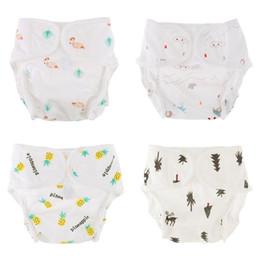 804c1b160fb7e Reutilizables Pañales para bebés Lavable Lindo Impreso Respirable Infantil  Recién nacido Algodón Entrenamiento Pantalones Bragas Pañales