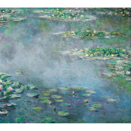 China Hand painted Landscapes art Water Lilies Claude Monet oil paintings for Home decor cheap water lily decor suppliers