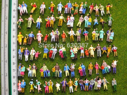 Discount miniature plastic figures - P100w Model Trains 1 :100 Painted Figures Tt Model Accessories Diy Mini Garden Decoration Terrarium Miniatures