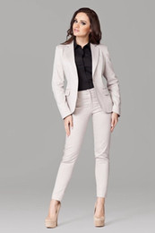 Taffeta Suits Canada - New Pant Suits Women Casual Office Business Formal Work Wear Suits Elegant Pant Suits Summer Spring Custom