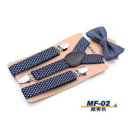 $enCountryForm.capitalKeyWord NZ - Elastic Boys Suspender Bowties Set bretelle bambino Wedding Bowties Suspenders Baby Kids Polka Dots Bow Ties braces kids