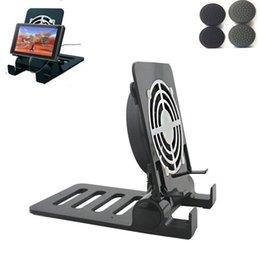 Para nintend switch ns console cooler cooler cooler docking stand station suporte multi-ângulo suporte de base para telefone tablet