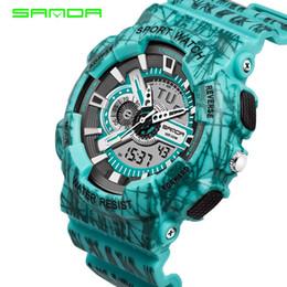 Men Digital Wrist Watches Australia - SANDA Sport Watch Men Top Brand Luxury Famous Electronic LED Digital Sadan Sport Wrist Watches For Men Male Clock