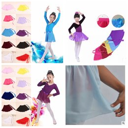 Wholesale 14styles girls dancewear Dance skirts Students performance clothing Chiffon Ballet skirt dress for baby party performance dress FFA1201