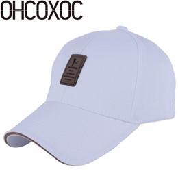Cotton Navy Canada - OHCOXOC new fashion men women baseball cap solid white black navy grey casual hats cotton high quality golf sports caps hat