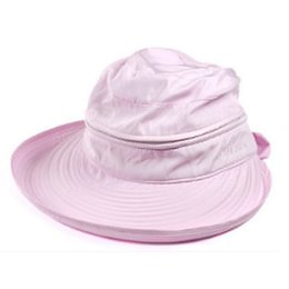 0a1621ae20fe5 Summer Fashion Bowknot Big Visor Cap Beach Sun Hat Light pink