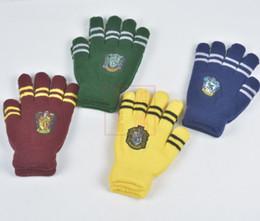 d9d82bffc6143 Harry School Gryffondor Serpentard Serdaigle Gants De Poufsouffle Badge  Cinq doigts Gants Cosplay Potter Fans Gants